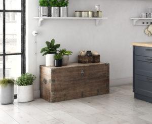Gray hardwood floors modern interior style Illinois