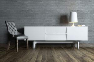 Textured hardwood flooring in Arlington Heights, Illinois